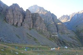 Kamp alanı genel görünüş